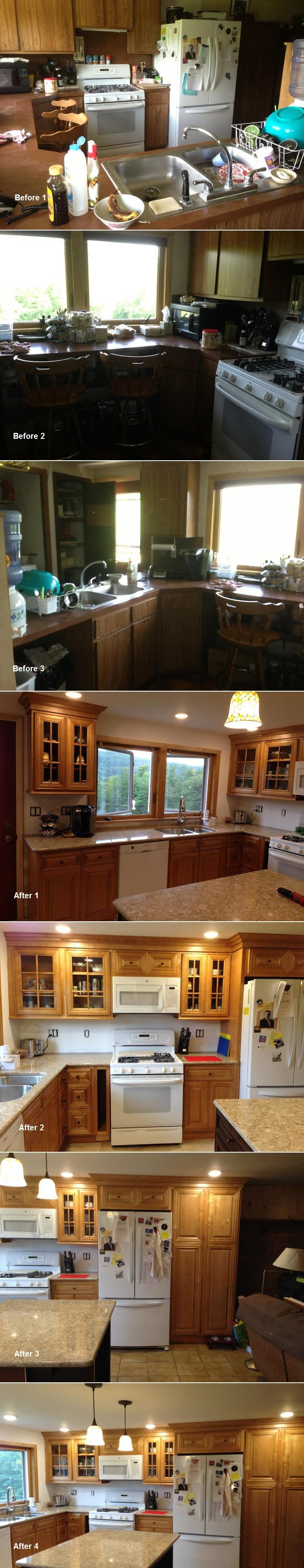 Glazed Praline Before & After