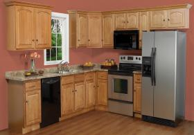Cathedral Honey RTA Kitchen Cabinets