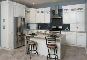 Frosted White Shaker RTA Kitchen Cabinets