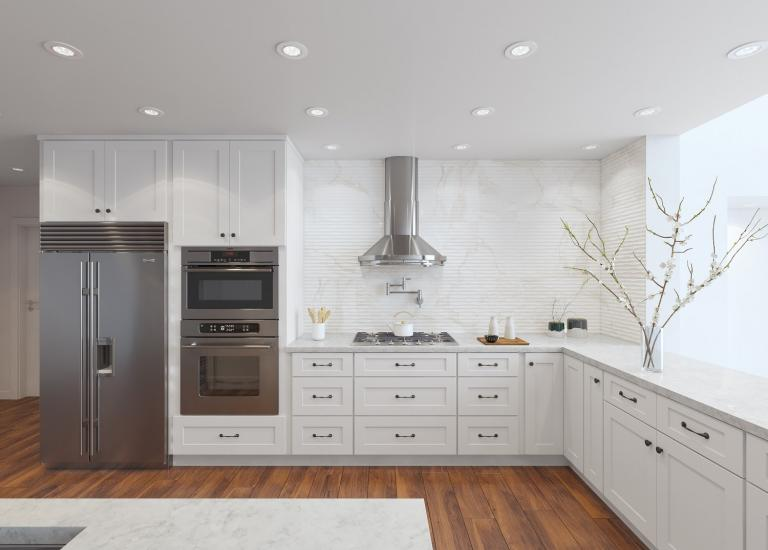 Dakota White Rta Kitchen Cabinets: Shaker Kitchen Cabinets