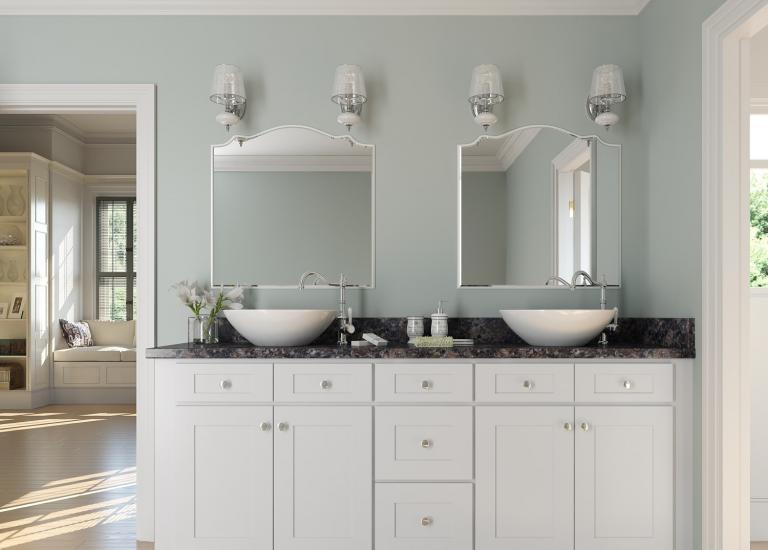 arctic white shaker rta kitchen cabinets