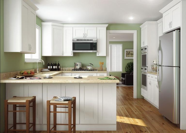 Aspen White Shaker Pre Embled Kitchen Cabinets