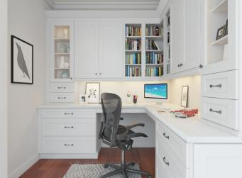 Aspen White Shaker RTA Office Cabinets