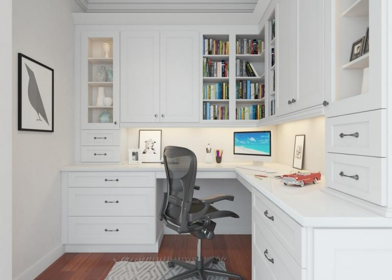 Aspen White Shaker Pre-Assembled Office Cabinets