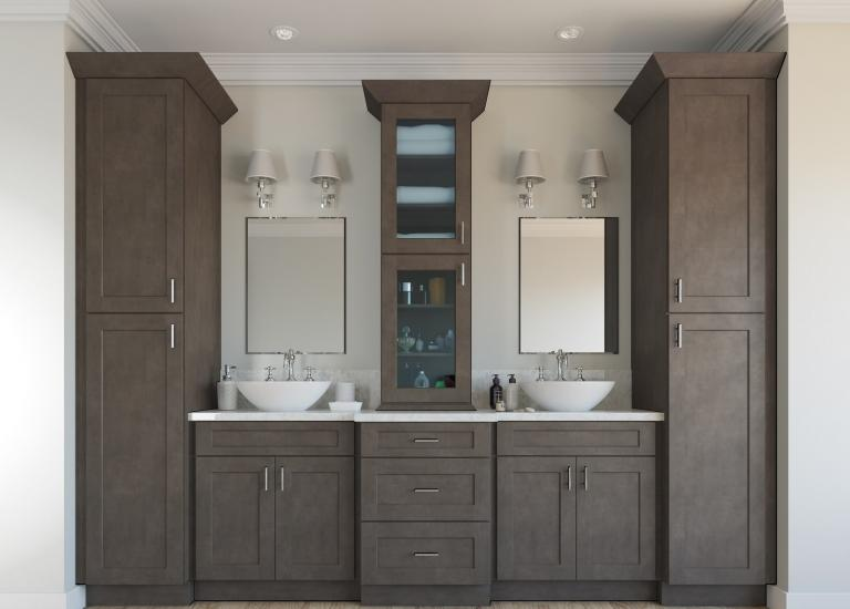 Natural Graphite Grey Shaker Pre-Assembled Kitchen Cabinets