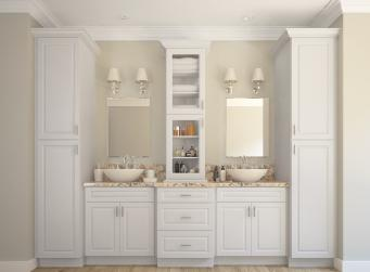 Dakota White Pre-Assembled Kitchen Cabinets