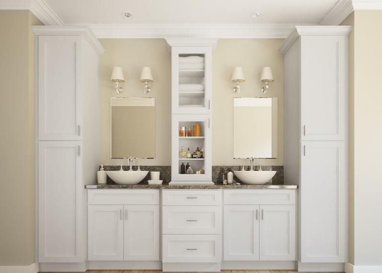 Captivating Newport White RTA Kitchen Cabinets