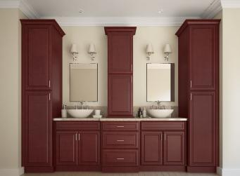 Regency Pomegranate Glaze Pre-Assembled Kitchen Cabinets