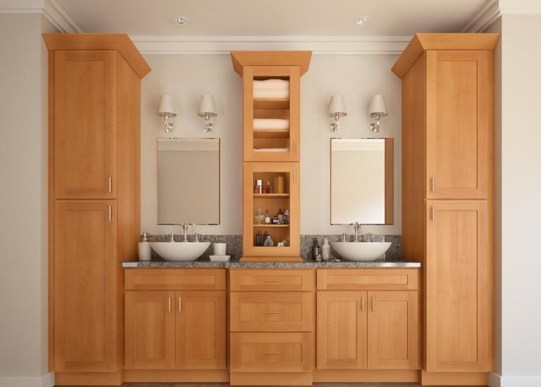 Shaker Honey Pre Embled Kitchen Cabinets