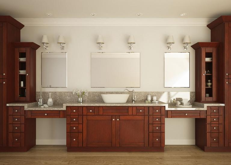 PreAssembled Bathroom Vanities Bathroom Vanities All Home - Semi custom bathroom cabinets for bathroom decor ideas