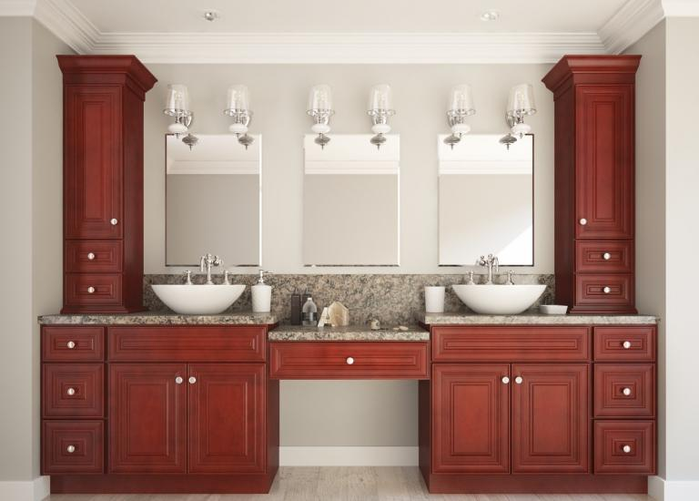 appealing red bathroom vanity cabinet | Ready to Assemble Bathroom Vanities & Cabinets - The RTA Store