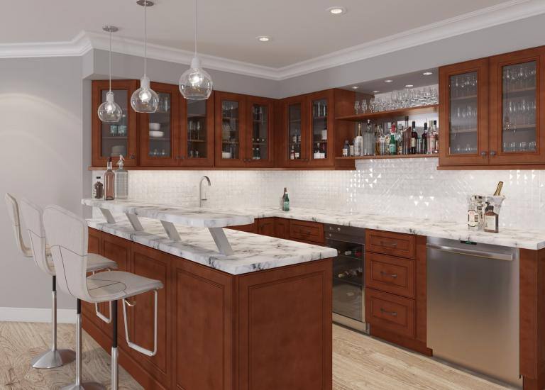 Brantley Chocolate Glaze RTA Cabinets