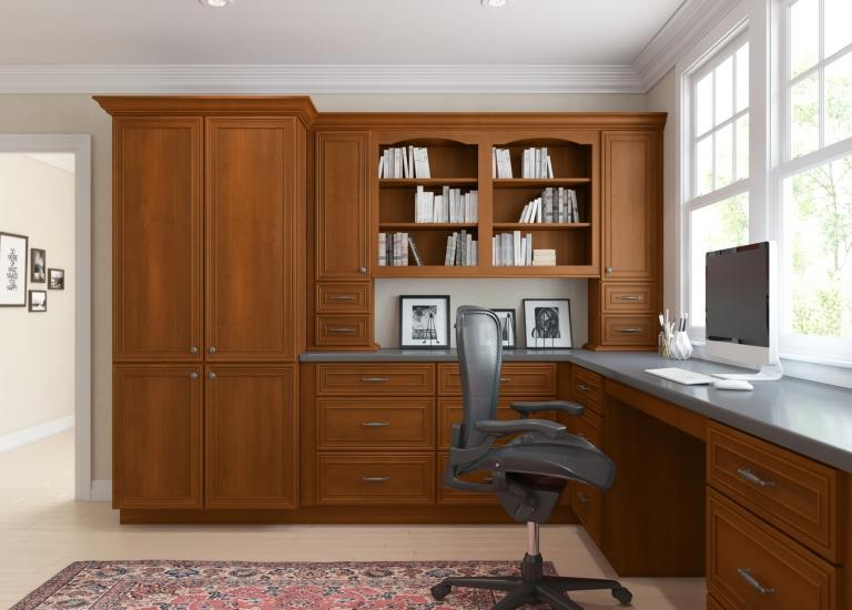 Cafe Mocha Glaze RTA Office Cabinets