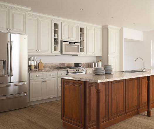 White Cabinets With Brown Glaze: White Kitchen Cabinets