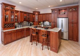 Camden Cherry RTA Kitchen Cabinets