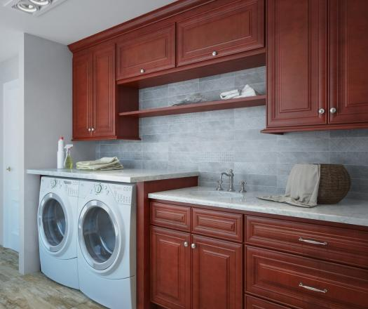 Cayenne Cognac RTA Laundry Room Cabinets