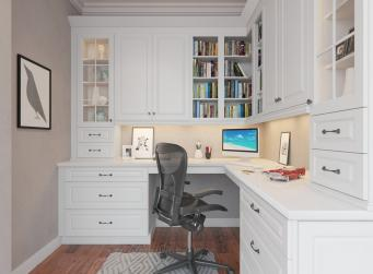 Dakota White Pre-Assembled Office Cabinets