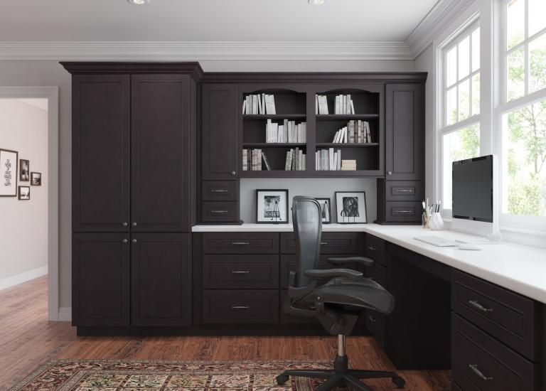 Espresso Bean RTA Office Cabinets