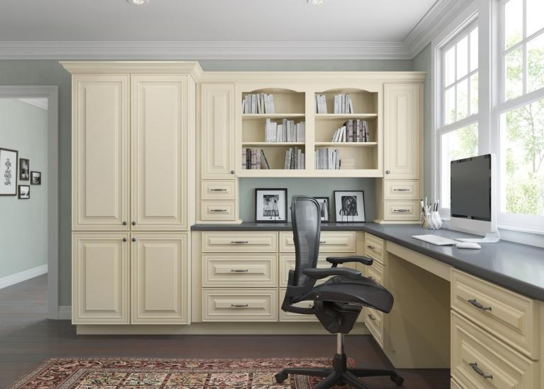French Vanilla Glaze RTA Office Cabinets