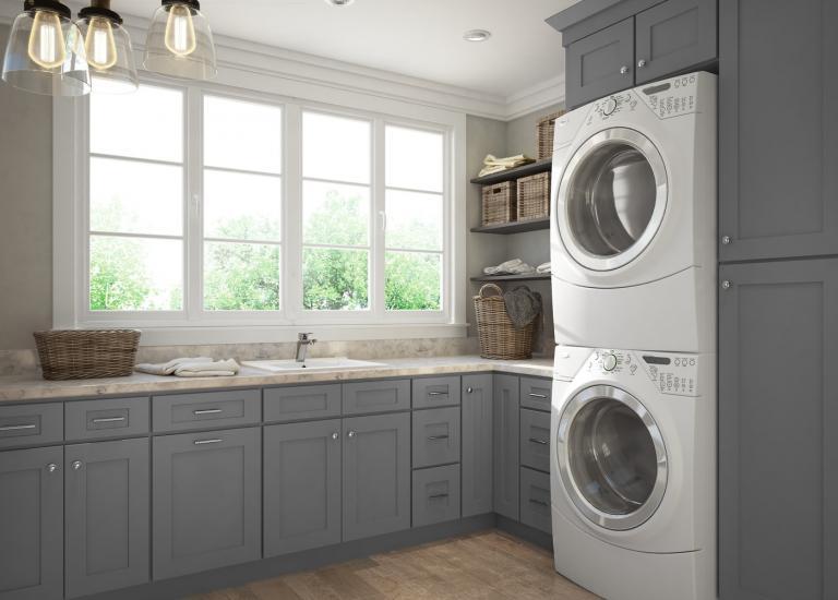 Graphite Grey Shaker RTA Cabinets