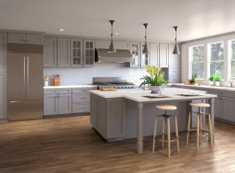 Heather Graphite Grey Shaker RTA Kitchen Cabinets