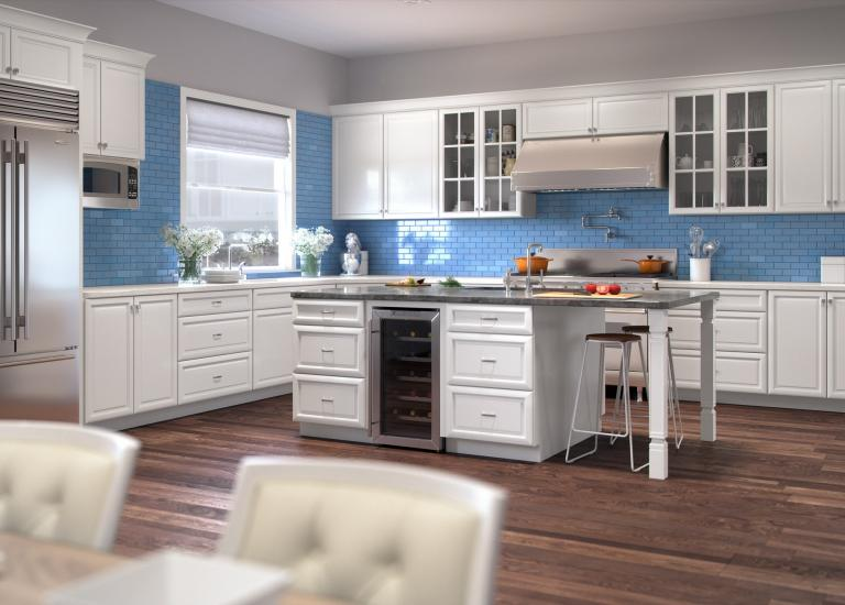 Regency White Pre Embled Kitchen Cabinets