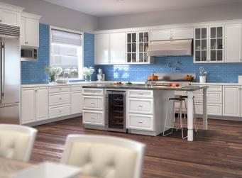 Regency White Pre-Assembled Kitchen Cabinets