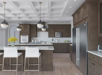 Natural Graphite Grey Shaker RTA Kitchen Cabinets