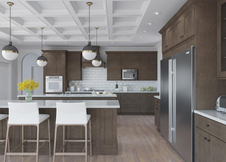 Natural Graphite Grey Shaker Pre Embled Kitchen Cabinets