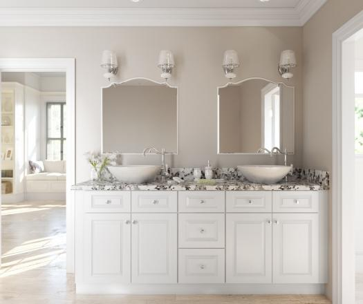 Ready assembled bathroom cabinets bar cabinet for Premade bathroom vanities
