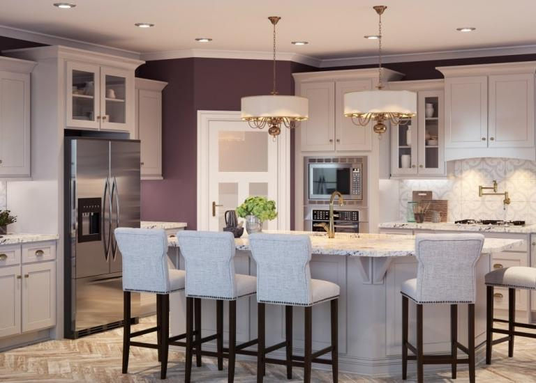 Recessed panel kitchen cabinets the rta store for Basic kitchen cupboards