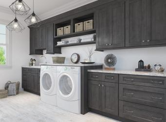 Natural Graphite Grey Shaker Pre-Assembled Laundry Room Cabinets