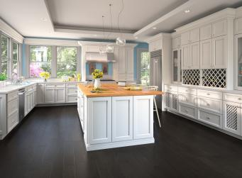 Providence White Pre-Assembled Kitchen Cabinets