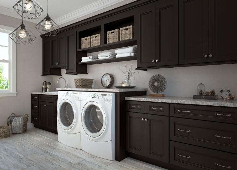 Newport Espresso Pre-Assembled Laundry Room Cabinets