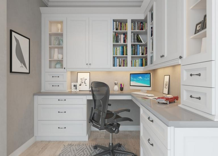 Awesome Providence White Pre Assembled Office Cabinets
