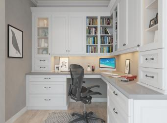 Providence White Pre-Assembled Office Cabinets
