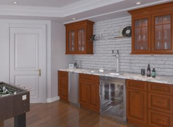 Nutmeg Twist Pre-Assembled Bar Room Cabinets