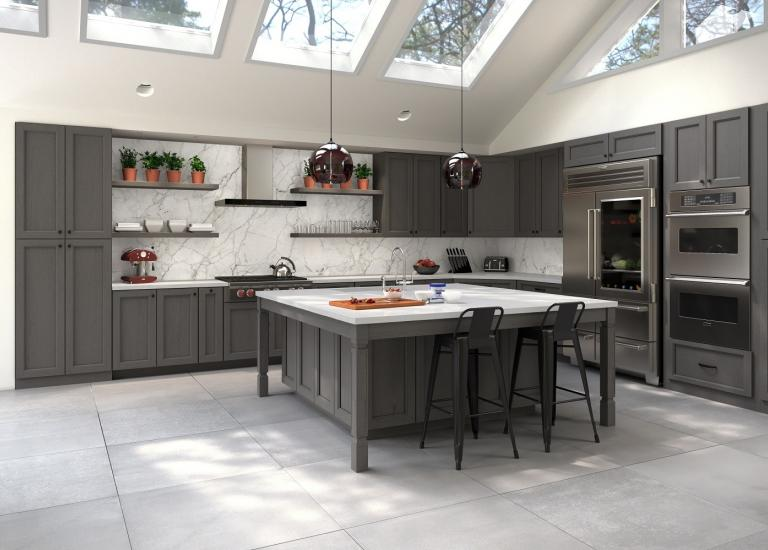 Providence Slate Grey Pre-Assembled Kitchen Cabinets