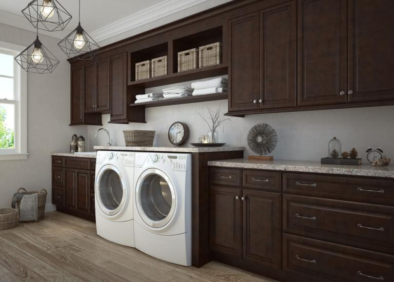 Regency Espresso RTA Laundry Room Cabinets