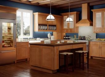 Shaker Honey Pre-Assembled Kitchen Cabinets