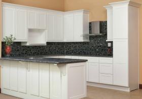 Brilliant White Shaker RTA Kitchen Cabinets