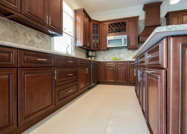 signature chocolate kitchen cabinets with stainless steel appliances pictures of brown dark