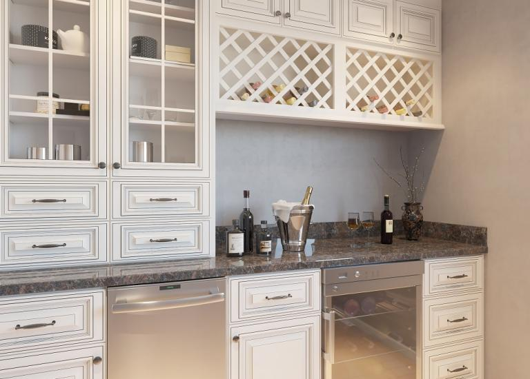 Signature Vanilla Pre-Assembled Bar Room Cabinets