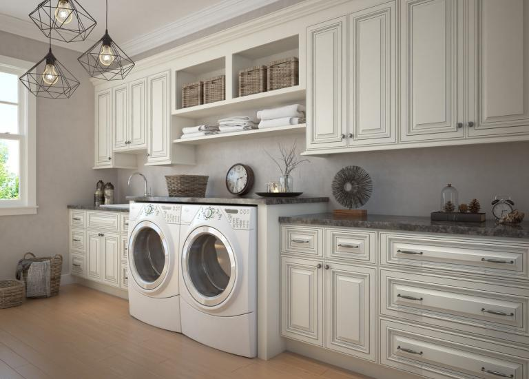 Signature Vanilla Pre-Assembled Laundry Room Cabinets