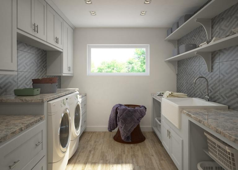 Society Shaker Steel Gray Laundry Room Cabinets