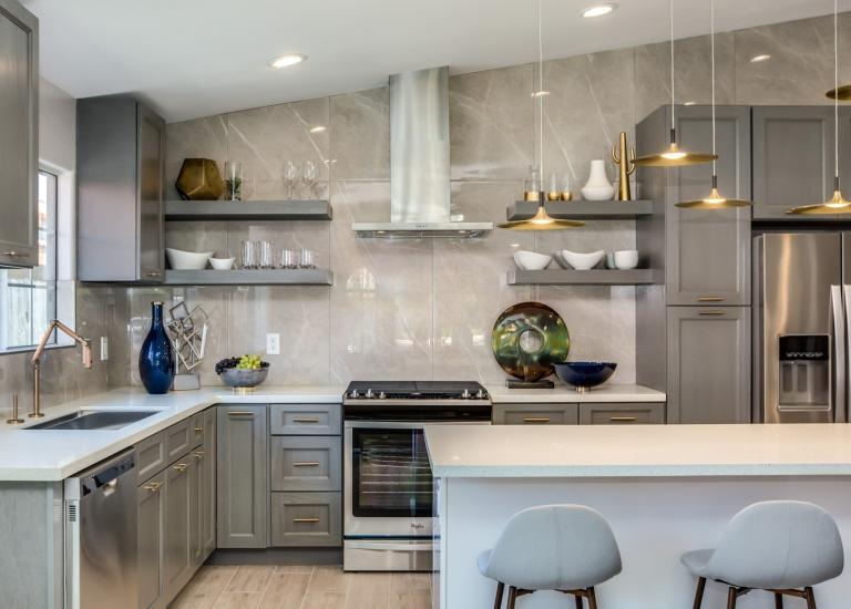 Providence Slate Grey Pre Embled Kitchen Cabinets