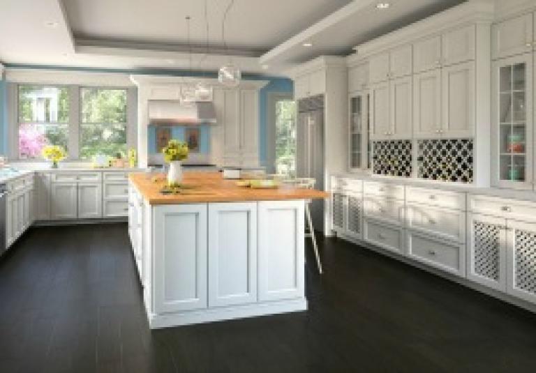 Newport White RTA Kitchen Cabinets