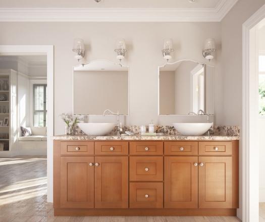Pecan Shaker RTA Kitchen Cabinets