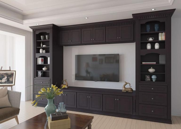 Espresso Bean RTA TV Room Cabinets