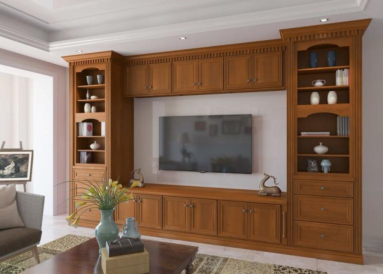 Cafe Mocha Glaze RTA TV Room Cabinets